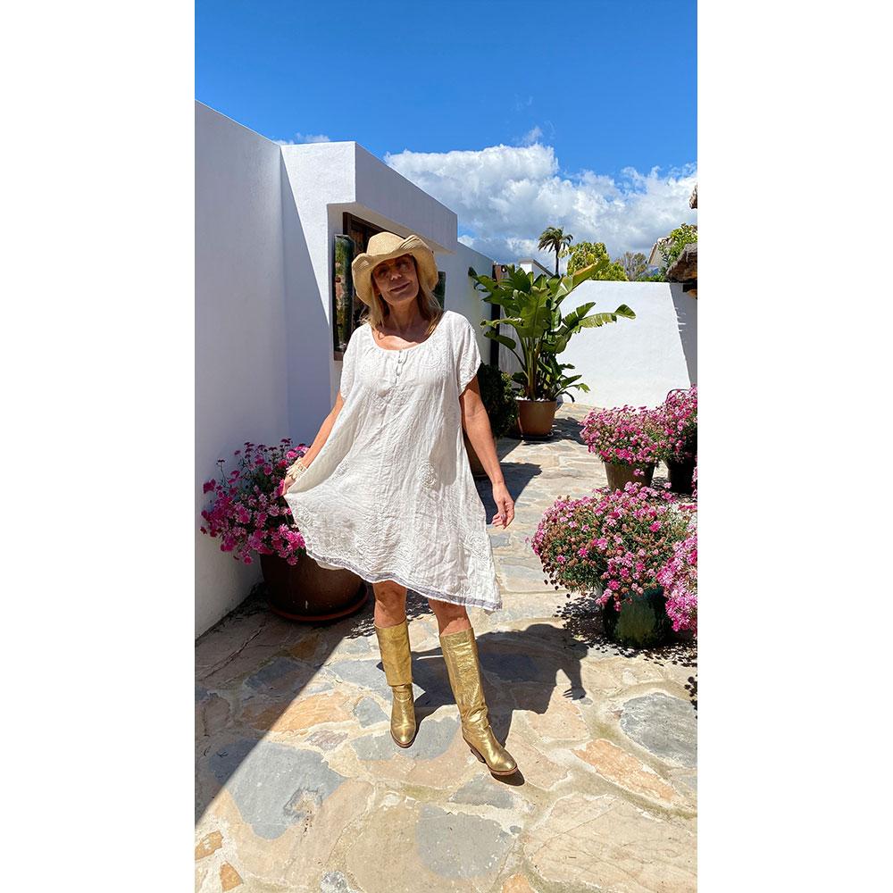 Nat Linen Dress